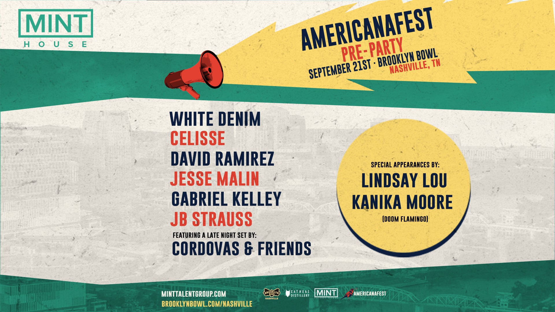 More Info for CONTEST! Mint House's AmericanaFest Pre-Party: White Denim, Celisse, David Ramirez + More Tickets + $100 Gift Card!
